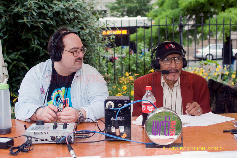 Joe Pati and Bob Perkins 'BP with the GM' from Temple Radio Station WRTI - Broadcasting Live from The 21st Annual Clifford Brown Jazz Festival at Rodney Square in Wilmington, Delaware, June 15 -21, 2009