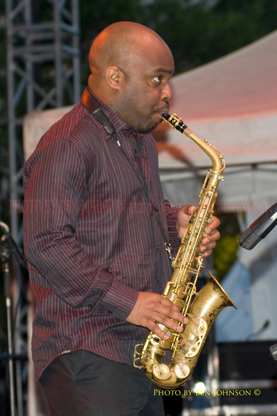 Jaleel Shaw Photo Performing with Roy Haynes  at The 21st Annual Clifford Brown Jazz Festival at Rodney Square in Wilmington, Delaware, June 15 -21, 2009