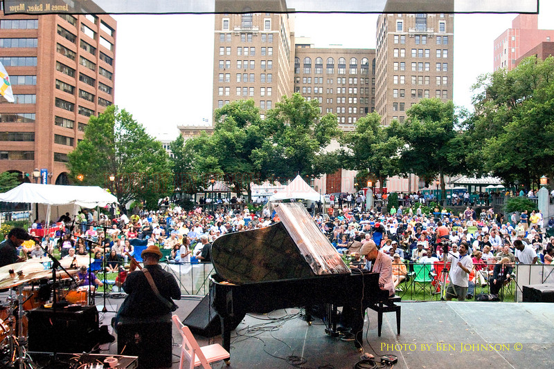 Jason Moran Bandwagon Photo - Performing at The 21st Annual Clifford Brown Jazz Festival at Rodney Square in Wilmington, Delaware, June 15 -21, 2009