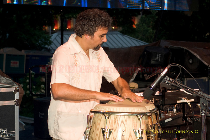 Gabo Tomasini Photo from Bio Ritmo performing with Pete Escovedo at The 21st Annual Clifford Brown Jazz Festival at Rodney Square in Wilmington, Delaware, June 15 -21, 2009