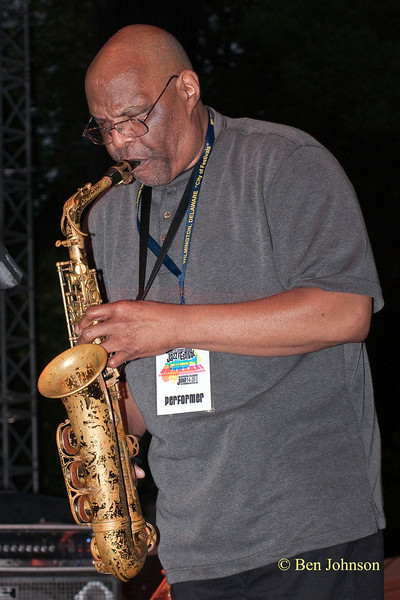 Joe Ford Photo - with Jerry Gonzalez & The Fort Apache Band -performing at The 22nd Annual Clifford Brown Jazz Festival in Rodney Square, Wilmington, Delaware, held June 15-20, 2010