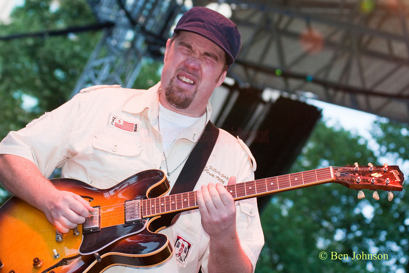 Eric Krasno photo - with Eric Crittenden's A Soulprovisational Experience performing at The 22nd Annual Clifford Brown Jazz Festival in Rodney Square, Wilmington, Delaware, held June 15-20, 2010