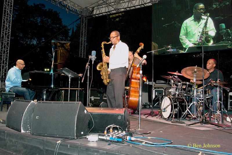 Ravi Coltrane Quartet photo - performing at The 22nd Annual Clifford Brown Jazz Festival in Rodney Square, Wilmington, Delaware, held June 15-20, 2010