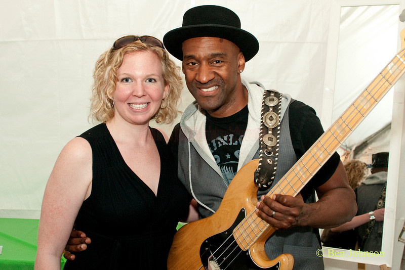 Maureen Malloy with Marcus Miller at The 22nd Annual Clifford Brown Jazz Festival in Rodney Square, Wilmington, Delaware, held June 15-20, 2010