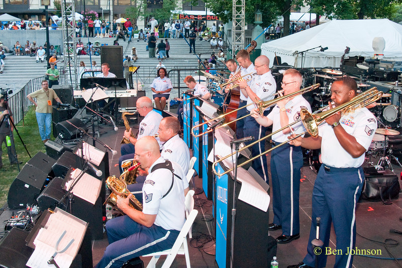 The United States Air Force Heritage of America Band Satellite Jazz Ensemble - performing at The 22nd Annual Clifford Brown Jazz Festival in Rodney Square, Wilmington, Delaware, held June 15-20, 2010