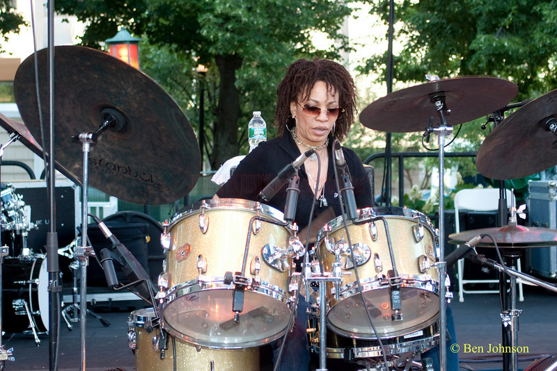 Cindy Blackman photo - performing at The 22nd Annual Clifford Brown Jazz Festival in Rodney Square, Wilmington, Delaware, held June 15-20, 2010