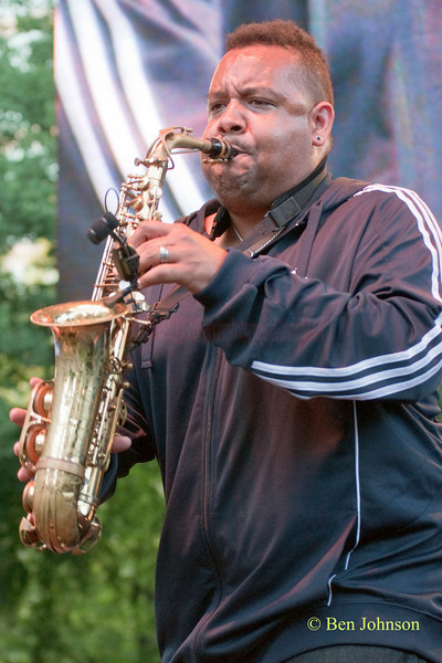 Eric Crittendon photo - with Eric Crittenden's A Soulprovisational Experience performing at The 22nd Annual Clifford Brown Jazz Festival in Rodney Square, Wilmington, Delaware, held June 15-20, 2010