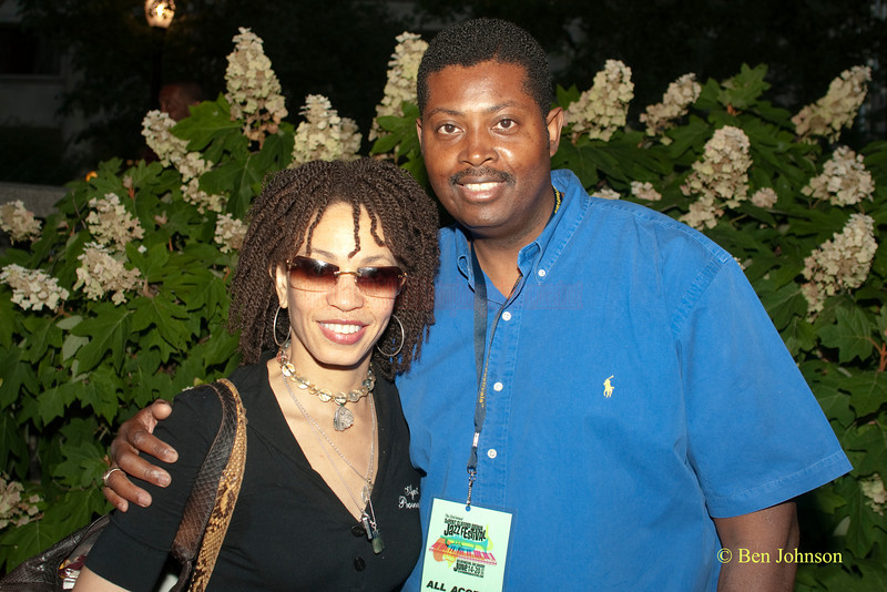 Cindy Blackman and Larry Young, Jr. - at The 22nd Annual Clifford Brown Jazz Festival in Rodney Square, Wilmington, Delaware, held June 15-20, 2010