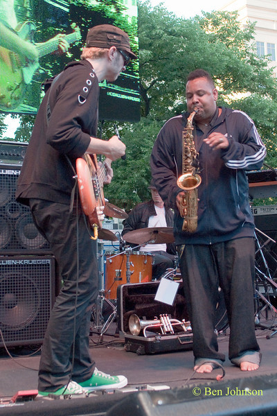 Eric Krasno and Eric Crittenden photo - with Eric Crittenden's A Soulprovisational Experience performing at The 22nd Annual Clifford Brown Jazz Festival in Rodney Square, Wilmington, Delaware, held June 15-20, 2010