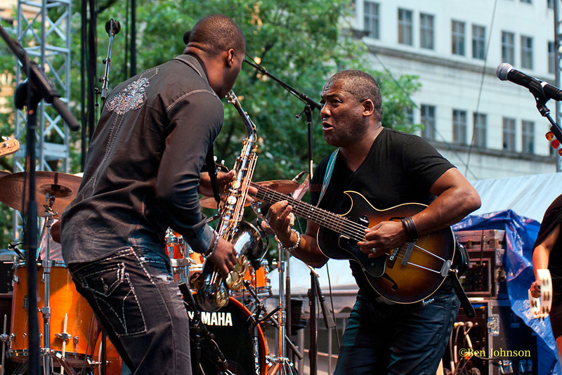 Jonathan Butler - performing at The 2011 Dupont Clifford Brown Jazz Festival held in Rodney Square in Downtown Wilmington, Delaware