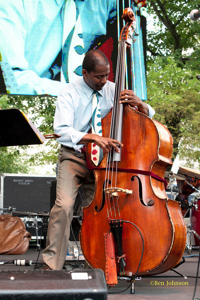 Avery Sharpe  - performing at The 2011 Dupont Clifford Brown Jazz Festival held in Rodney Square in Downtown Wilmington, Delaware.