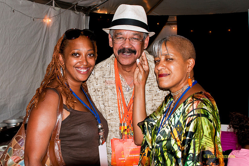 Dawn Evans, Jeff Duperon and Rene Marie - backstage at The 2011 Dupont Clifford Brown Jazz Festival held in Rodney Square in Downtown Wilmington, Delaware.