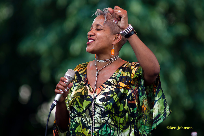 Rene Marie - performing at The 2011 Dupont Clifford Brown Jazz Festival held in Rodney Square in Downtown Wilmington, Delaware..
