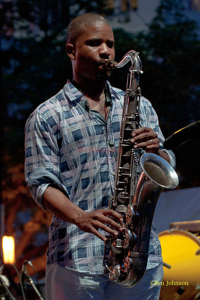 David Sanchez - performing at The 2011 Dupont Clifford Brown Jazz Festival held in Rodney Square in Downtown Wilmington, Delaware.