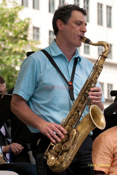 Ralph Bowen- performing with The Captain Black Big Band at The 2011 Dupont Clifford Brown Jazz Festival held in Rodney Square in Downtown Wilmington, Delaware.