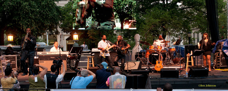 Jonathan Butler's band - performing at The 2011 Dupont Clifford Brown Jazz Festival held in Rodney Square in Downtown Wilmington, Delaware.