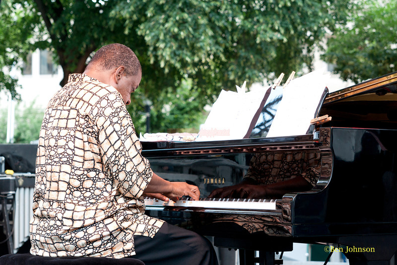 Onajee Allan Gumbs - performing at The 2011 Dupont Clifford Brown Jazz Festival held in Rodney Square in Downtown Wilmington, Delaware.