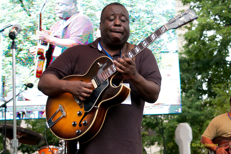 Ronnie Jordan - performing at The 2011 Dupont Clifford Brown Jazz Festival held in Rodney Square in Downtown Wilmington, Delaware.
