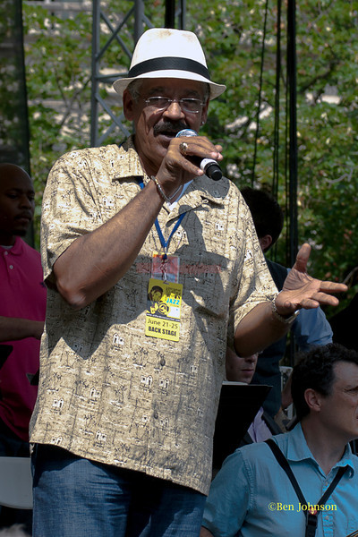 Jeff Duperon - Emceeing The 2011 Dupont Clifford Brown Jazz Festival held in Rodney Square in Downtown Wilmington, Delaware