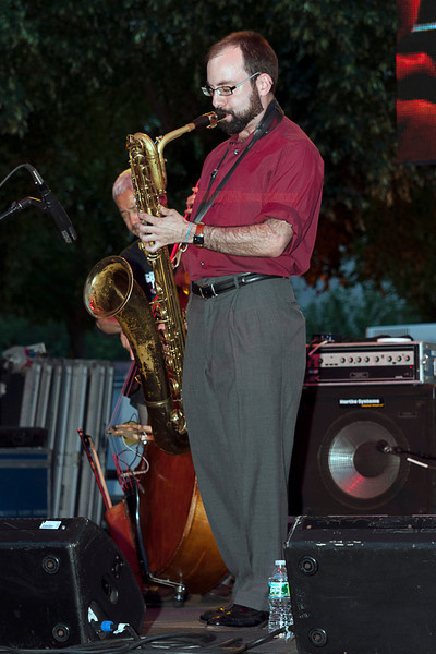 Andrew Hadro - performing at The 2011 Dupont Clifford Brown Jazz Festival held in Rodney Square in Downtown Wilmington, Delaware