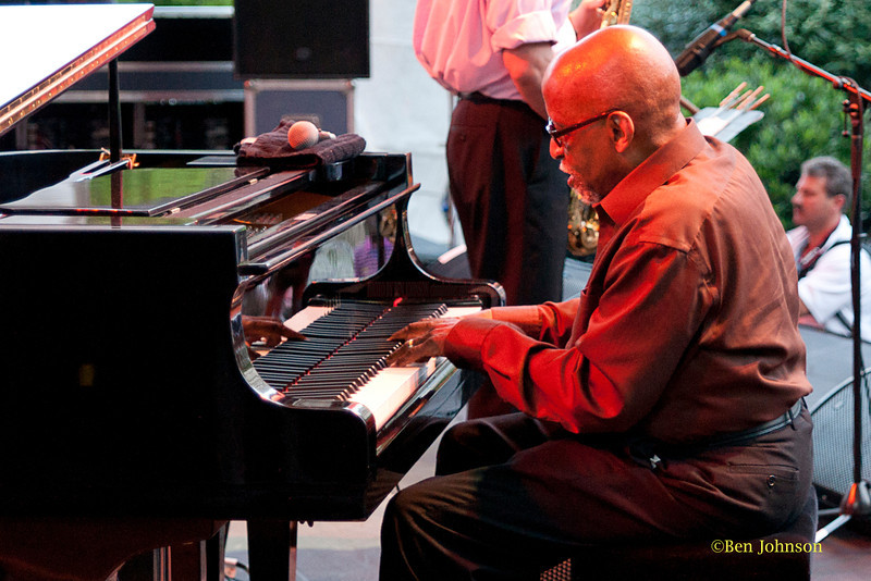 Junior Mance - performing at The 2011 Dupont Clifford Brown Jazz Festival held in Rodney Square in Downtown Wilmington, Delaware.