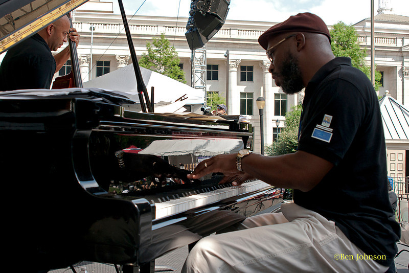 Orrin Evans - with his Captain Black Big Band performing at The 2011 Dupont Clifford Brown Jazz Festival held in Rodney Square in Downtown Wilmington, Delaware