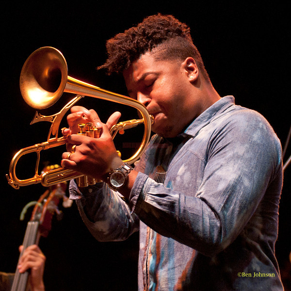 Christian Scott - performing at The 2011 Dupont Clifford Brown Jazz Festival held in Rodney Square in Downtown Wilmington, Delaware.