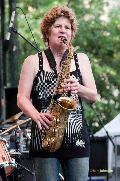 Lynn Riley - performing at The 2011 Dupont Clifford Brown Jazz Festival held in Rodney Square in Downtown Wilmington, Delaware