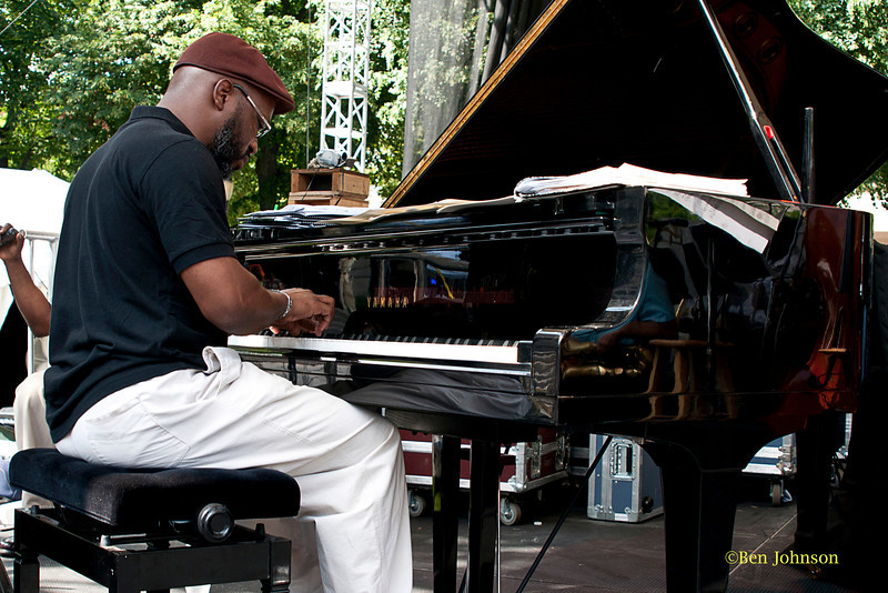 Orrin Evans - with his Captain Black Big Band performing at The 2011 Dupont Clifford Brown Jazz Festival held in Rodney Square in Downtown Wilmington, DelawareDowntown Wilmington, Delaware.