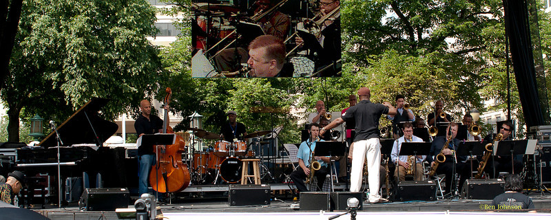 The Captain Black Big Band - performing at The 2011 Dupont Clifford Brown Jazz Festival held in Rodney Square in Downtown Wilmington, Delaware