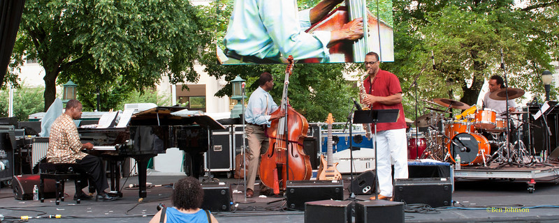 Avery Sharpe Quartet  - performing at The 2011 Dupont Clifford Brown Jazz Festival held in Rodney Square in Downtown Wilmington, Delaware.