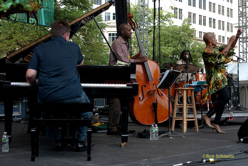 Rene Marie Quartet - performing at The 2011 Dupont Clifford Brown Jazz Festival held in Rodney Square in Downtown Wilmington, Delaware.