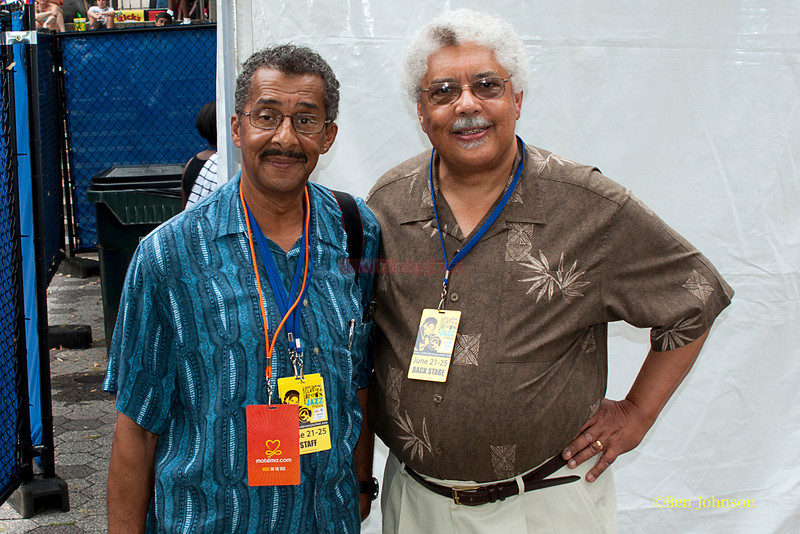 Ben Johnson and Rufus Reid - backstage at The 2011 Dupont Clifford Brown Jazz Festival held in Rodney Square in Downtown Wilmington, Delaware.