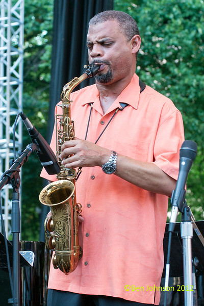 Steve Wilson performing as part of the  2012 Clifford Brown Jazz Festival in Rodney Square in Wilmington Delaware, June 18-23, 2012.