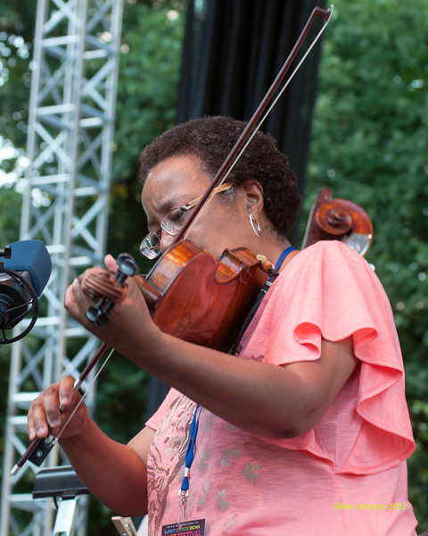 Diane Monroe performing as part of the  2012 Clifford Brown Jazz Festival in Rodney Square in Wilmington Delaware, June 18-23, 2012.