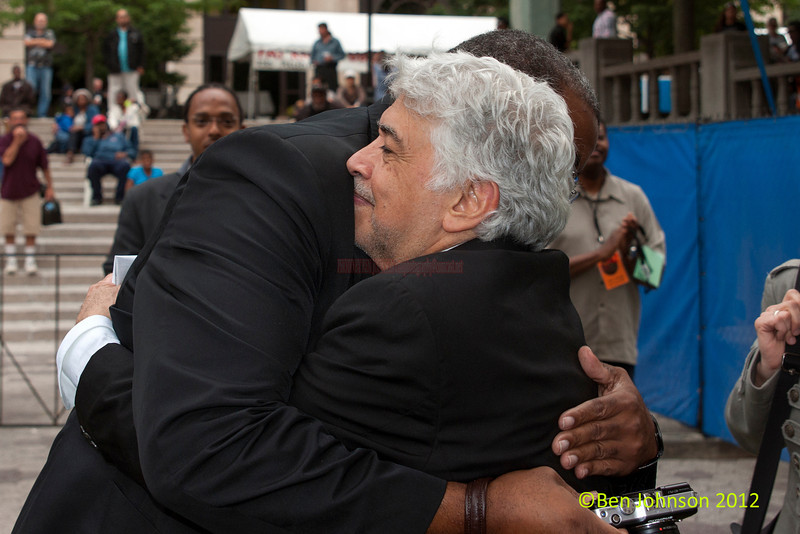 Monty Alexander and Kevin Mahogony at the 2012 Clifford Brown Jazz Festival in Rodney Square in Wilmington Delaware, June 18-23, 2012.