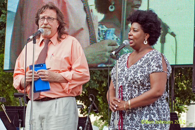 John Rago and Tina Betz The  2012 Clifford Brown Jazz Festival in Rodney Square in Wilmington Delaware, June 18-23, 2012.