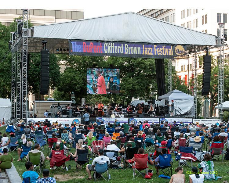 The  2012 Clifford Brown Jazz Festival in Rodney Square in Wilmington Delaware, June 18-23, 2012.