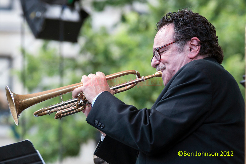 Claudio Roditi performing as part of the 2012 Clifford Brown Jazz Festival in Rodney Square in Wilmington Delaware, June 18-23, 2012