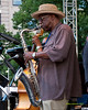 Umar Rhaheem  performing as part of the  2012 Clifford Brown Jazz Festival in Rodney Square in Wilmington Delaware, June 18-23, 2012.