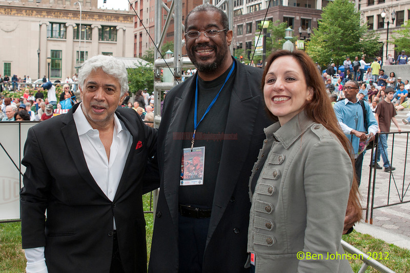 Monty Alexander, Kevin Mahogany and Caterina zapponi at the 2012 Clifford Brown Jazz Festival in Rodney Square in Wilmington Delaware, June 18-23, 2012.