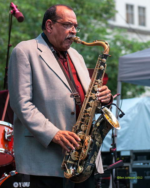 Ernie Watts performing as part of the  2012 Clifford Brown Jazz Festival in Rodney Square in Wilmington Delaware, June 18-23, 2012.