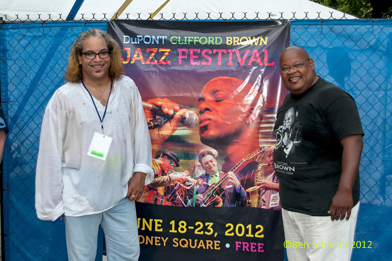 Winston Byrd and Tony Smith at the  2012 Clifford Brown Jazz Festival in Rodney Square in Wilmington Delaware, June 18-23, 2012.