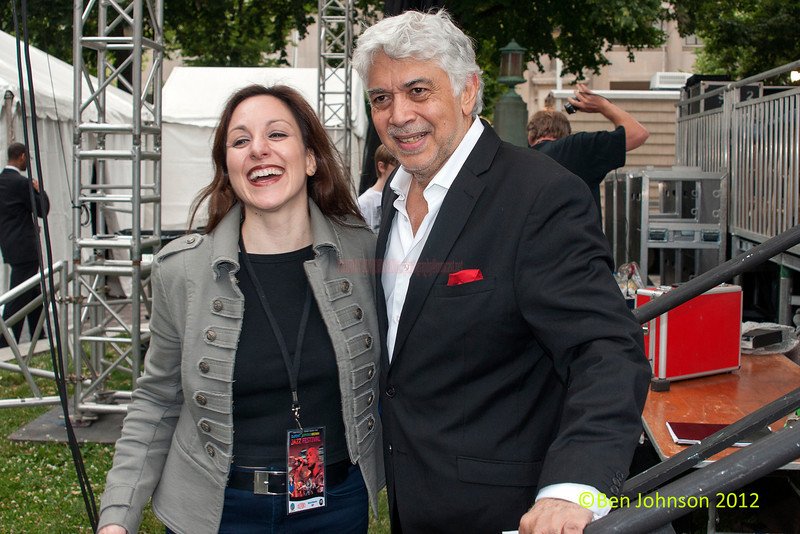 Monty Alexander and Caterina Zapponi performing as part of the 2012 Clifford Brown Jazz Festival in Rodney Square in Wilmington Delaware, June 18-23, 2012.