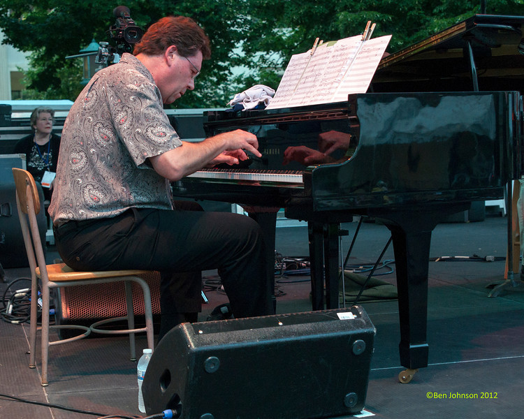 David Witham performing as part of the  2012 Clifford Brown Jazz Festival in Rodney Square in Wilmington Delaware, June 18-23, 2012.