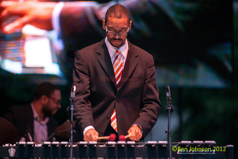 Jason Marsalis performing as part of the 2012 Clifford Brown Jazz Festival in Rodney Square in Wilmington Delaware, June 18-23, 2012.