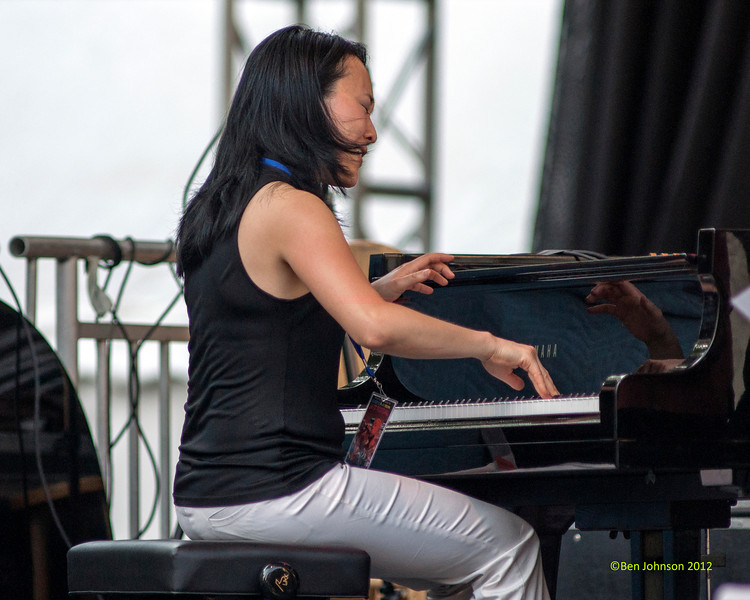 Helen Sung performing as part of the  2012 Clifford Brown Jazz Festival in Rodney Square in Wilmington Delaware, June 18-23, 2012.