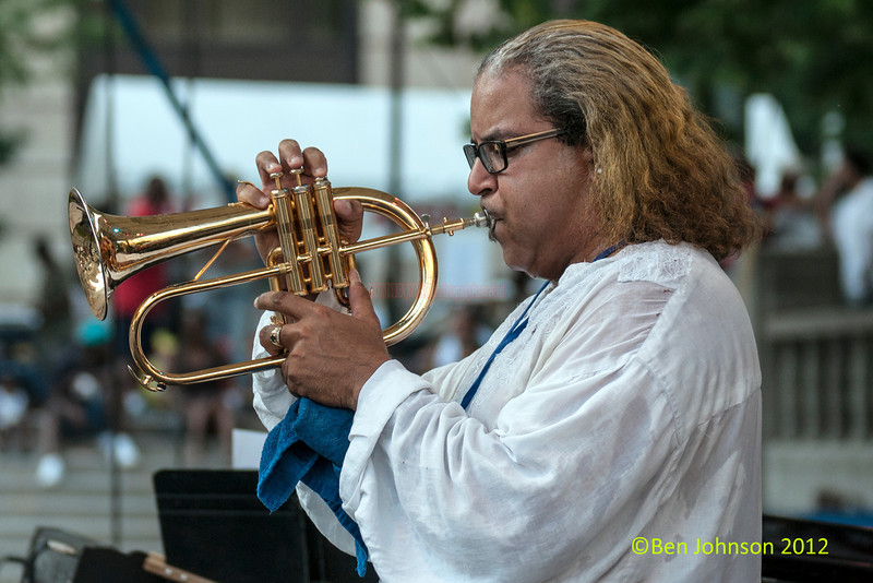 Winston Byrd performing as part of the  2012 Clifford Brown Jazz Festival in Rodney Square in Wilmington Delaware, June 18-23, 2012.