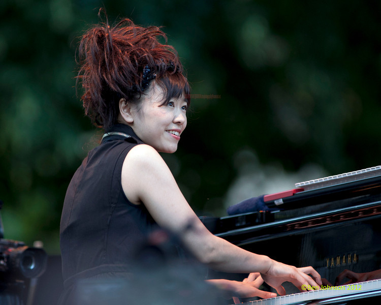 Hiromi performing as part of the  2012 Clifford Brown Jazz Festival in Rodney Square in Wilmington Delaware, June 18-23, 2012.