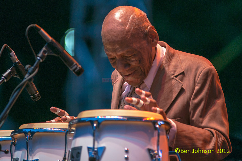 Candido at 91 years old, performing as part of the 2012 Clifford Brown Jazz Festival in Rodney Square in Wilmington Delaware, June 18-23, 2012.